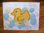 Rubber Ducky Baby Card