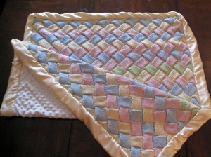 Knitted Quilted Baby Blanket 3