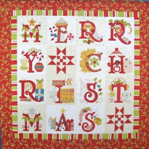 Merry Christmas Block of the Month Quilt