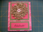 Ruched Flower Greeting Card