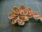 Ruched Flower (Step 6)
