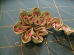 Ruched Flower (Step 7a)