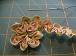Ruched Flower (Step 7b)