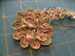 Ruched Flower (Step 8b)