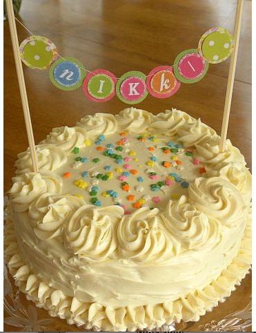 Diy Craft List How To Make A Mini Cake Banner